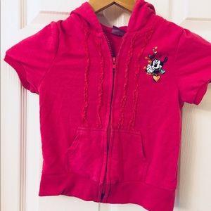 Disney | Girl's 4T | Short Sleeve Hoodie | Minnie